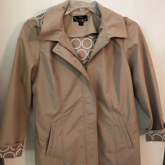 Dennis by Dennis Basso Tan Raincoat - Size S